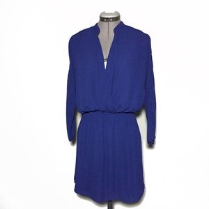 Eight Sixty Navy Blue Long Sleeve Mini Dress M